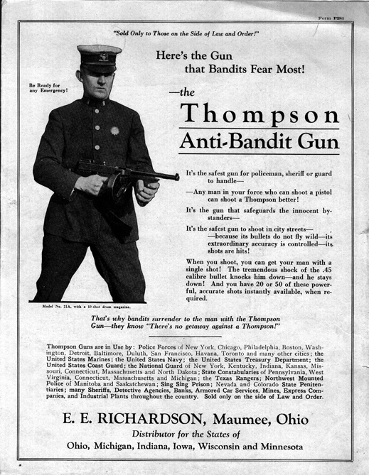 1920's Thompson ad