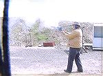 shooting the golf ball revolver.