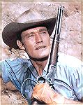 "Chuck Connors, ""The Rifleman"", with a modified lever on the carbine."