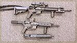 AR-15 builds. The one in the middle is legal.