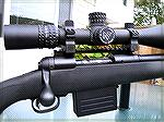 The rugged Nightforce 5.5-22x56mm riflescope mounted on my Savage Model 10FCP-K.