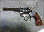 This is my 1957 Colt Official Police after I removed the barrel rust.