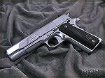 Iver Johnson .38 Super with high polish flats and medium polish rounds. Hard Chrome, which is very hard and should both last and be highly rust resistant for decades to come. The stocks are actually d