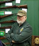 Collector of the Remington rifles based originally on the British .276 caliber rifle, displayed at the NRA Collectors show at Indy 2019.  See other photos.