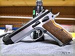 Witness Elite Match.  SAO pistol in .38 Super.  This pistol has a trigger pull that feels like a finely tuned 1911.