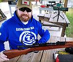 My son Eric with his Japanese Arisaka Type 99 in 7.7x58mm, complete mum.  It still features aircraft sights and monopod as well.