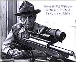 L.E. Wilson shooting Unlimited Benchrest.
