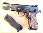 A nice example of a 1973 Browning Hi-Power, complete with factory-installed Millet adjustable sights. The magazine holds 10 rounds of Winchester 115gr Silver Tip HP's.