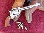 My Ruger Blackhawk, chambered in .45 Colt. I always enjoy taking this fine single-action revolver to the range.