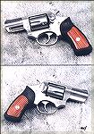 "One of the less common Ruger revolvers that are chambered for an auto pistol round, the 9x19.  This gun uses five round full moon clips.  (See Image Gallery photo #576, titled ""9mm Moon Clips."")  Rose"